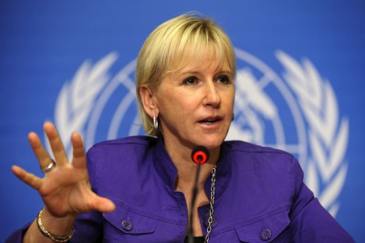 Margot Wallström's principled stand deserves wide support. Betrayal seems more likely AFP PHOTO / FABRICE COFFRINI (Photo credit should read FABRICE COFFRINI/AFP/Getty Images)
